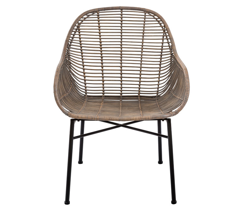 Lounge Chair Sogod Wicker Weaved Metal Frame 60x64xH79cm