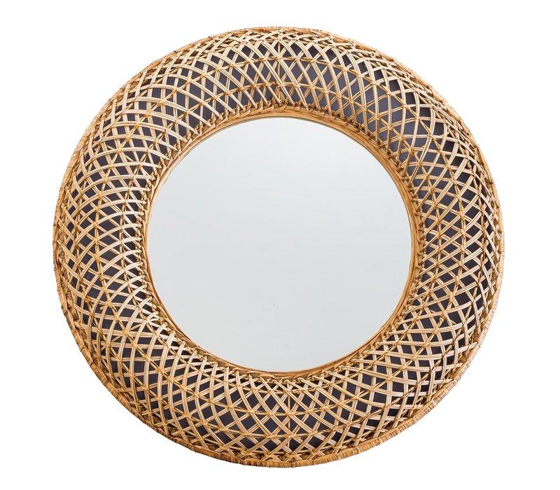 Mirror Buri Frame Handweaved D70x6cm Thick