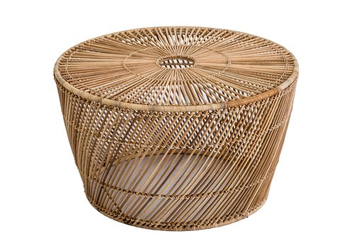 Fine Asianliving Side Table Wicker Abaca Handwoven Natural D67.5xH40cm - Sogo