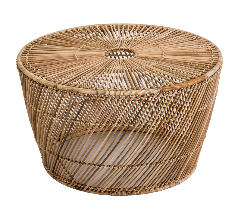 Table SOGO Wicker Abaca Handwoven Natural D67.5xH40cm