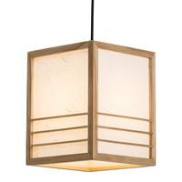 Japanische Lampe Holz Shoji Reispapier Natur - Nikko - B20xT20xH25.5cm