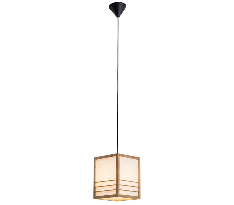 Japanese Lamp Shoji Rice Paper Wood Nikko Natural W20xD20xH25.5cm
