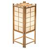 Fine Asianliving Japanische Lampe Holz und Shoji Reispapier Tatamilite Natur B19xT19xH45.5cm