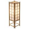 Fine Asianliving Japanische Lampe Holz und Shoji Reispapier Natur Groß - Tatamilite B19xT19xH58cm