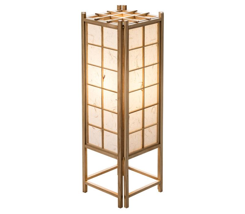 Japanese Lamp Shoji Rice Paper Wood Tatamilite Natural Large W19xD19xH58cm
