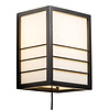 Fine Asianliving Japanese Wall Lamp Shoji Rice Paper Wood Nikko Black W20xD15xH25cm