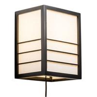 Applique en Bois Shoji Papier de Riz Japonaise Noir L20xP15xH25cm