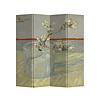 Fine Asianliving Paravento Divisori in Tela L160xA180cm 4 Pannelli Van Gogh Ramo di Mandorlo in Fiore in un Bicchiere