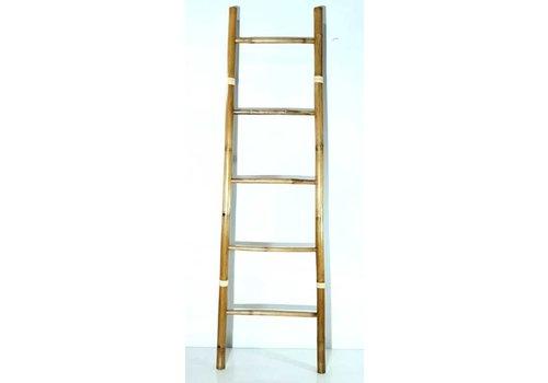 Fine Asianliving Bamboe Ladder Naturel 45x180cm Handgemaakt in Thailand