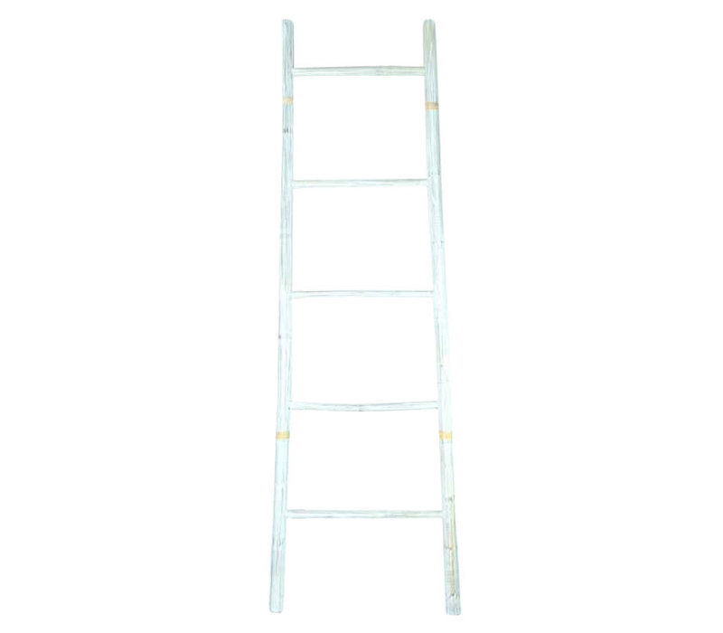 Bamboo Ladder White 45x150cm Handmade in Thailand