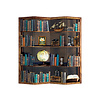 Fine Asianliving Room Divider Privacy Screen L160xH180cm 4 Panel Bookcase Globe