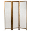 Fine Asianliving Room Divider Capiz Shells Handmade 3 Panel Screen Amy Princessa W45xD3xH180cm
