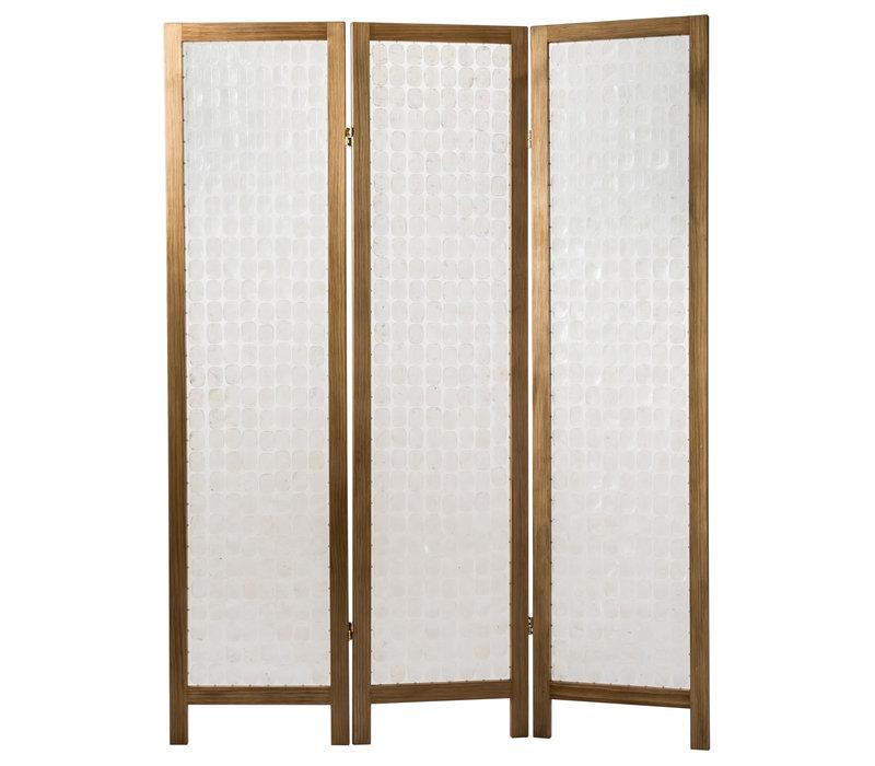 Room Divider Capiz Shells Handmade 3 Panel Screen Amy Princessa W45xD3xH180cm