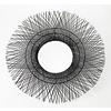 Fine Asianliving Round Wall Mirror Midrib Handweaved D85x7cm Thick