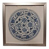 Fine Asianliving Chinese Painting with Frame Chinese Porcelain Plate Blue White W35xD3xH35cm