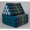 Fine Asianliving Fine Asianliving Thai Mattress Triangle Cushion Headrest 3-Fold Meditation Mat Lounge Kapok Blue