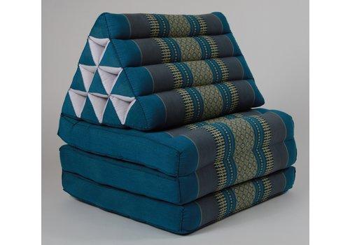 Fine Asianliving Fine Asianliving Thais Kussen Meditatie Driehoek Vloer Ligmat Yoga Uitklapbaar Kapok Blauw