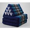 Fine Asianliving Fine Asianliving Thai Mattress Triangle Cushion Headrest 3-Fold Meditation Mat Lounge Kapok Ocean Blue