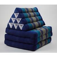Colchón Tailandés de 3 Pliegues con Cojín Triangular Plegable Océano Azul
