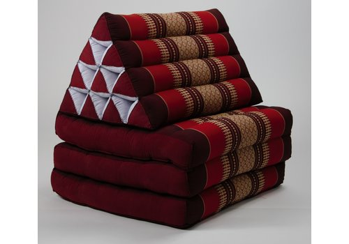 Fine Asianliving Thai Triangle Cushion Mattress Foldable Standard Bordeaux Red
