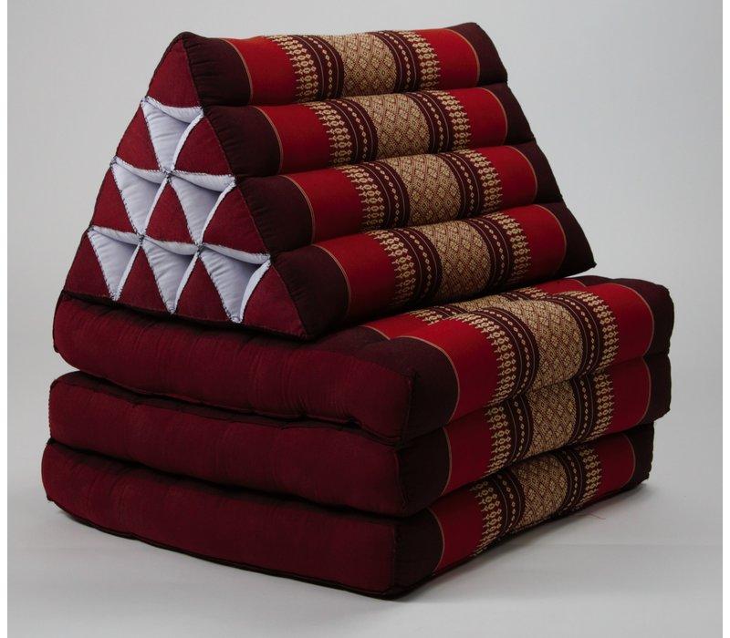 Thais Kussen Meditatie Driehoek Vloer Ligmat Yoga Uitklapbaar Bordeaux Rood