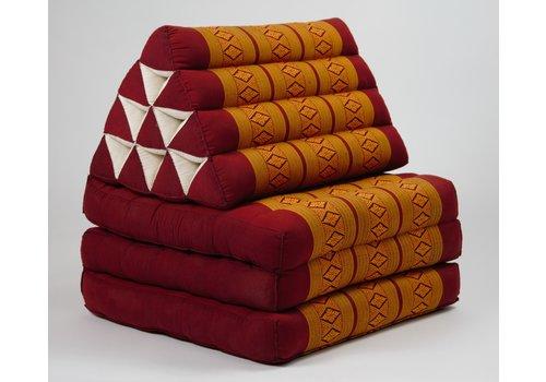 Fine Asianliving Fine Asianliving Thai Kissen mit Dreieck-Kissen 3 Auflagen Falt-Matratze Boden-Liege-Matte Sitzkissen Thaimatte Kapok 180cm