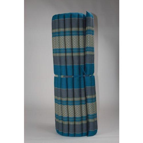 Fine Asianliving Thai Meditation Mat Rollable Mattress 100x200cm Yoga Kapok-Filling Blue