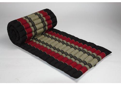 Fine Asianliving Fine Asianliving Rollbare Thai Sitzmatte 80x200cm aus Kapok Yoga Meditation Thaikissen Rot