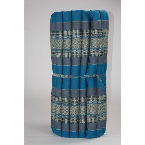 Fine Asianliving Thai Meditation Mat Rollable Mattress 80x200cm Yoga Kapok-Filling Blue