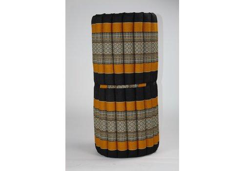 Fine Asianliving Thai Mat Rollable Matress 190x78x4.5cm Mat Cushion Black Orange