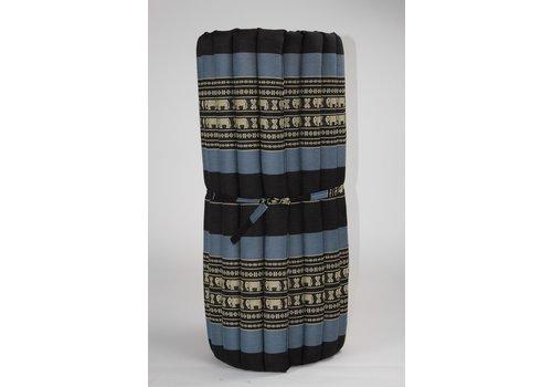Fine Asianliving Thai Mat Rollable Matress 190x78x4.5cm Mat Cushion Black Elephants