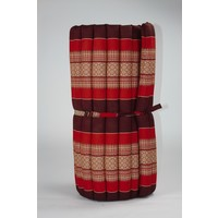 Thaimatte Rollbar Kapokfüllung 190x78x4.5cm Burgundy Red