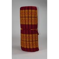 Thaimatte Rollbar Kapokfüllung 190x78x4.5cm Thai orange