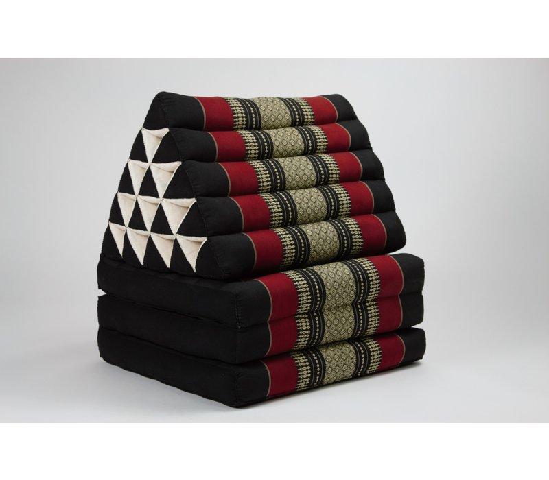 Fine Asianliving Thai Mattress Triangle Cushion Headrest 3-Fold Meditation Mat Jumbo Lounge Kapok XL Red
