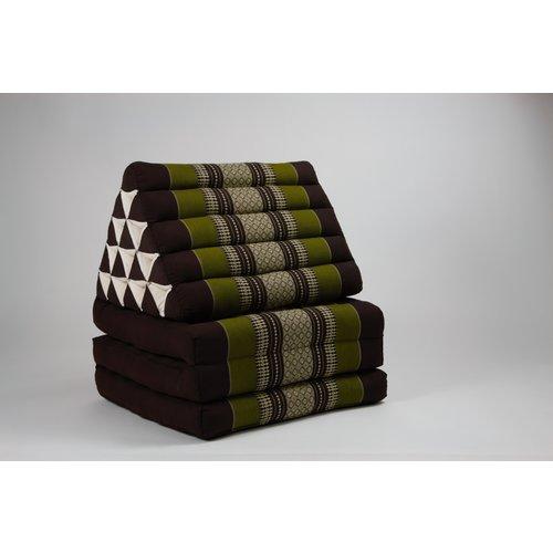 Fine Asianliving Thai Mattress Triangle Cushion Headrest 3-Fold Meditation Mat Jumbo Lounge Kapok XL Green