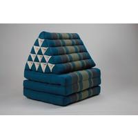 Fine Asianliving Thai Mattress Triangle Cushion Headrest 3-Fold Meditation Mat Jumbo Seat Kapok XL Blue