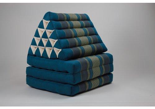Fine Asianliving Fine Asianliving Thais Kussen Meditatie Driehoek Vloer Ligmat Yoga Uitklapbaar Kapok Blauw XL