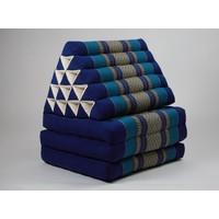 Thaikissen Dreieckskissen 3 Auflagen Kapokfüllung XL Meerblau