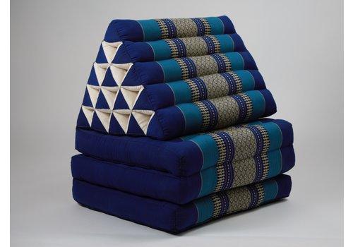 Fine Asianliving Thai Triangle Cushion Mattress Foldable XL Ocean Blue