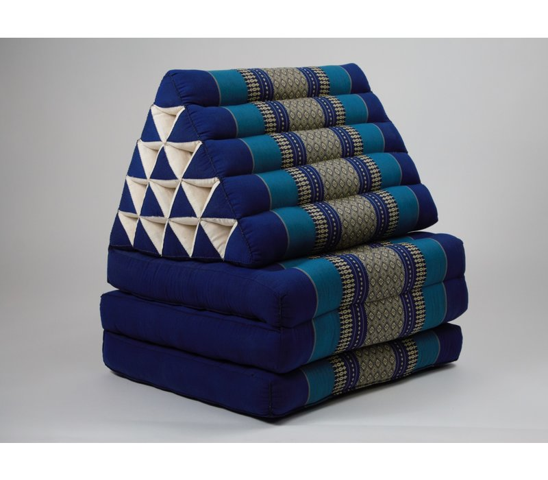 Thai Triangle Cushion Mattress Foldable XL Ocean Blue