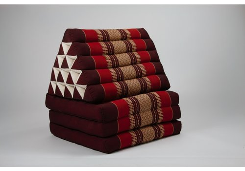 Fine Asianliving Thai Triangle Cushion Mattress Foldable XL Bordeaux Red