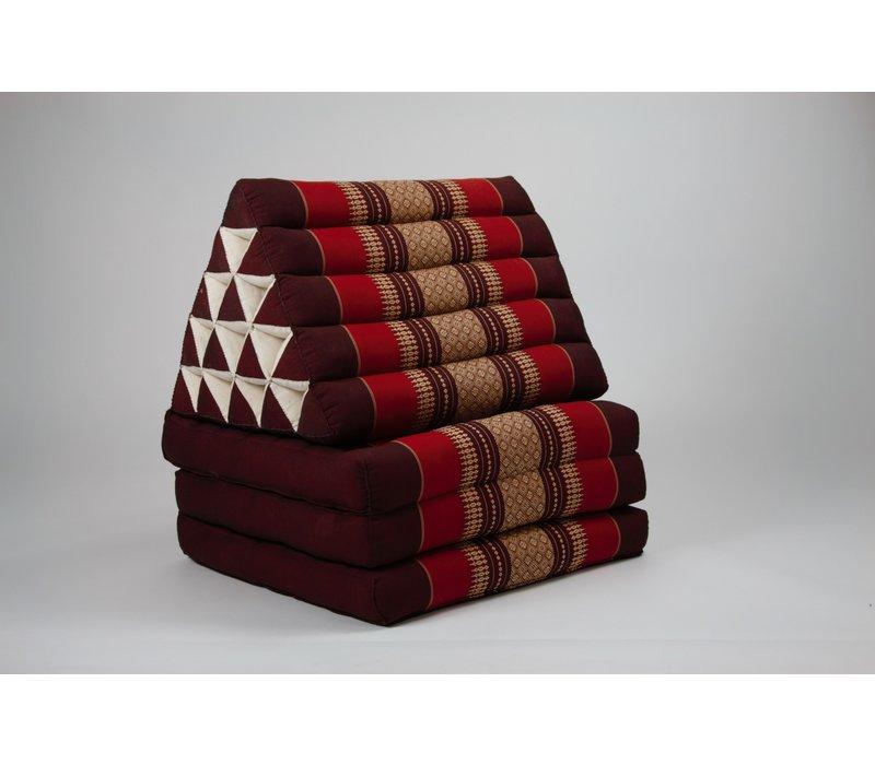 Thai Triangle Cushion Mattress Foldable XL Burgundy Red