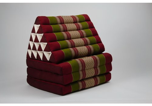 Fine Asianliving Thai Triangle Cushion Mattress Foldable XL Burgundy Green