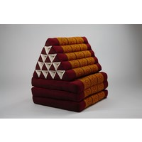 Thai Triangle Cushion Mattress Foldable XL Thai Orange