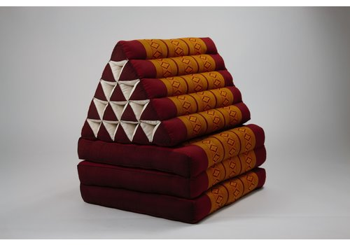 Fine Asianliving Thai Triangle Cushion Mattress Foldable XL Thai Orange