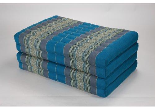 Fine Asianliving Thai Cushion Matress 4-folded 80x200cm Mat Cushion XXXL Sky Blue
