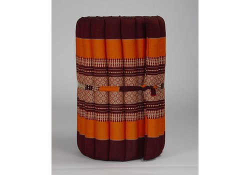 Fine Asianliving Thai Mat Rollable Matress 190x50x4.5cm Burgundy Orange
