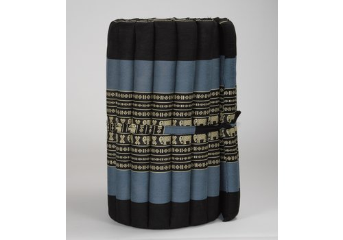 Fine Asianliving Thai Mat Rollable Matress 190x50x4.5cm Black Elephant