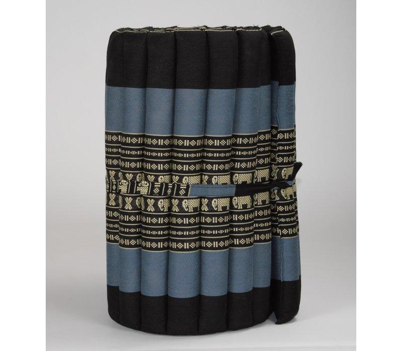 Thai Mat Rollable Mattress 190x50x4.5cm Black Elephant
