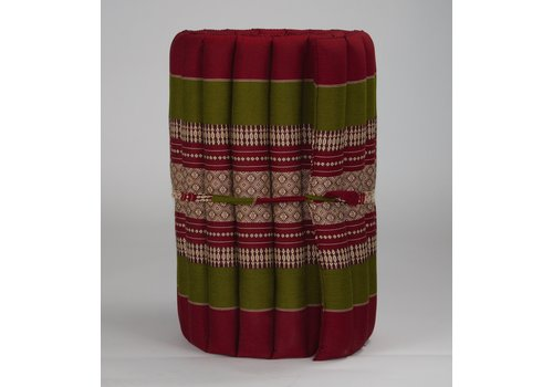 Fine Asianliving Thai Mat Rollable Matress 190x50x4.5cm Burgundy Green